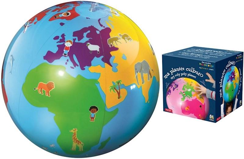 Caly Toys Opblaasbare Culbuto Globe - blauw