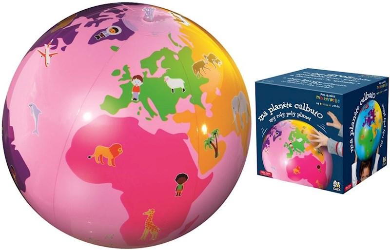 Caly Toys Opblaasbare Culbuto Globe - roze