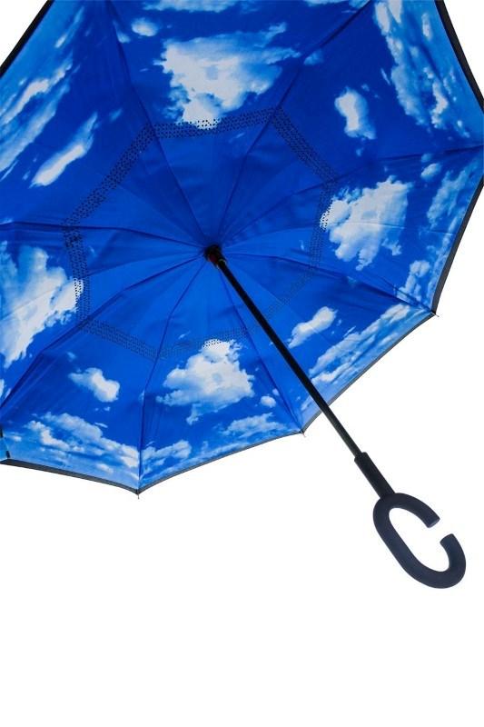 Dubbeldoeks Omgekeerde Wolken Umbrella