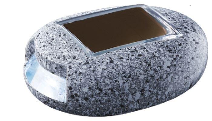 PowerPlus Cricket - Solar LED Kiezelsteen