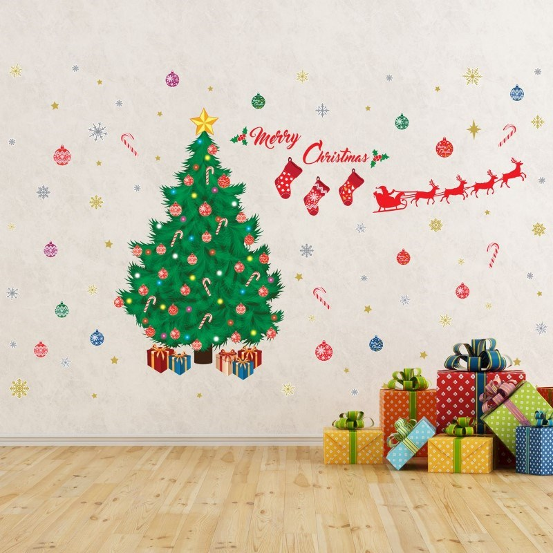 Walplus Home Decoratie Sticker - Traditionele Kerstboom Decoratie Set
