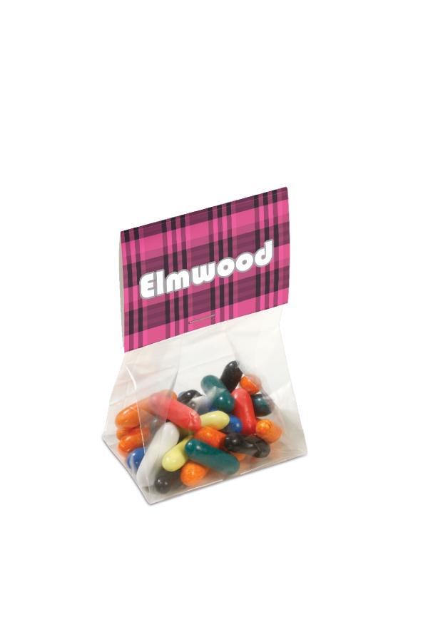 zakje met 50 gram snoep
