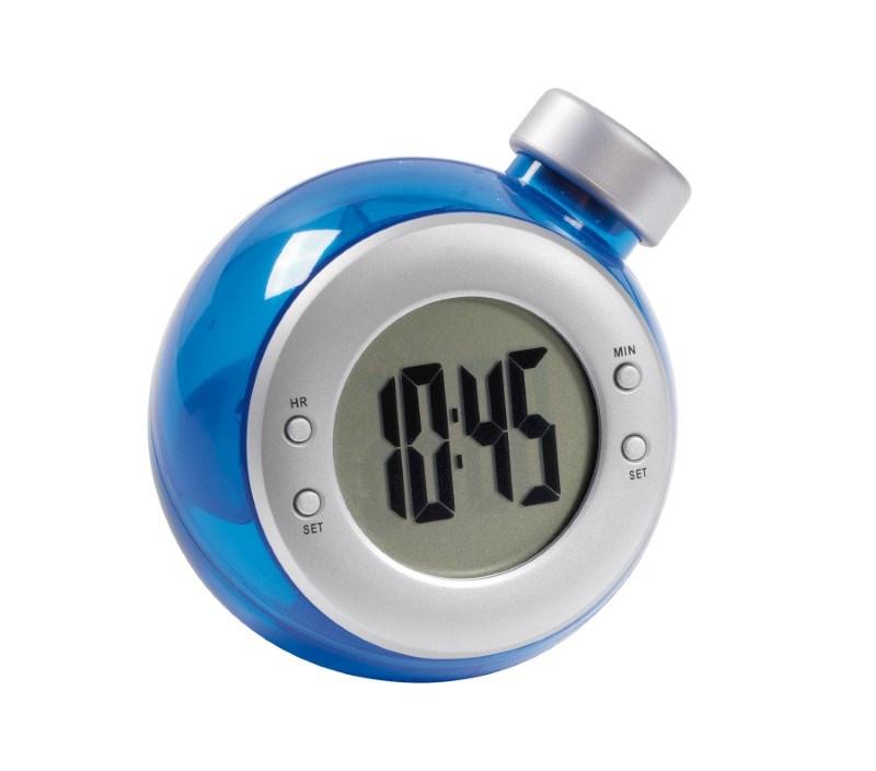 Watergestuurde digitale klok DEEP BLUE