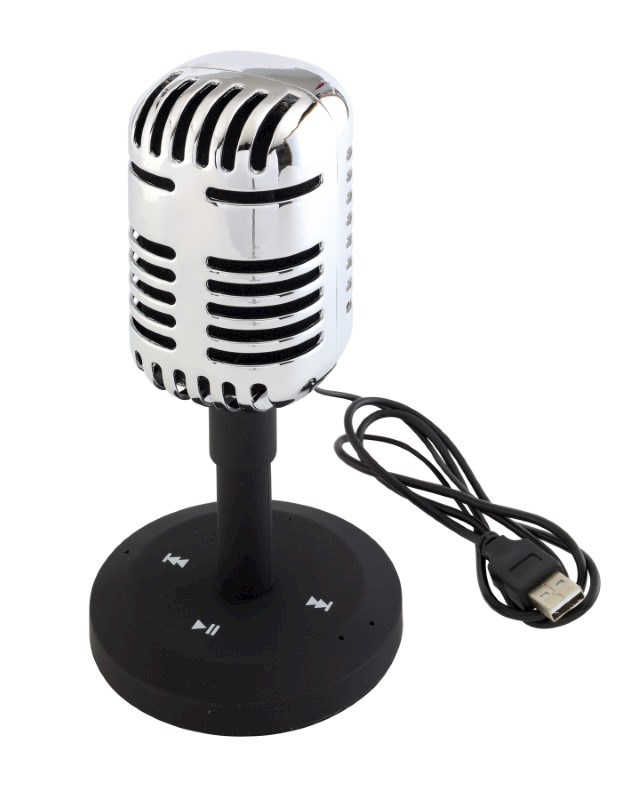 "Retrostijl bluetooth speaker ""MICROPHONE"""