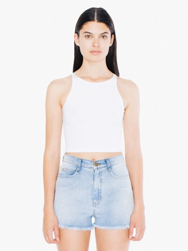AMA Top Crop Sleeveless CotSpandex For Her