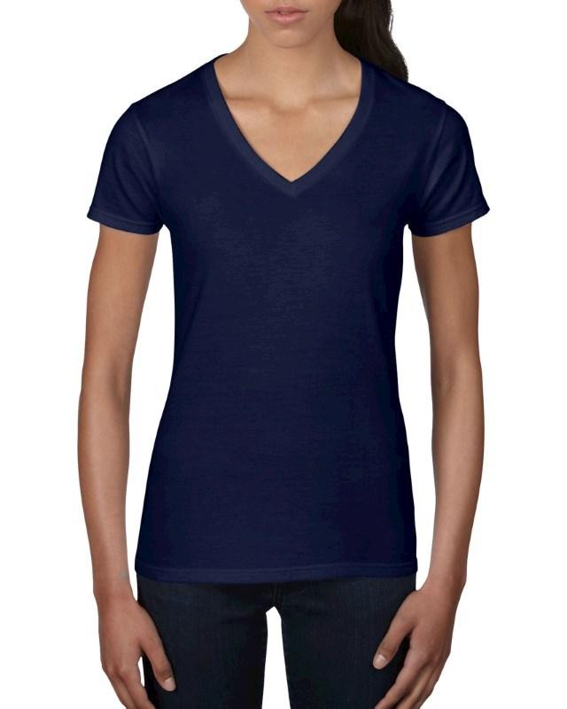 Anvil T-shirt V-neck Lightweight SS for her