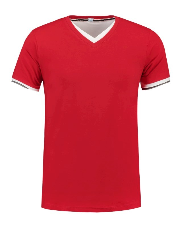 L&S T-shirt Double-V cotelast SS for him