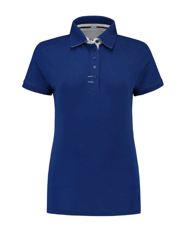 L&S Polo Contrast CotElast SS for her