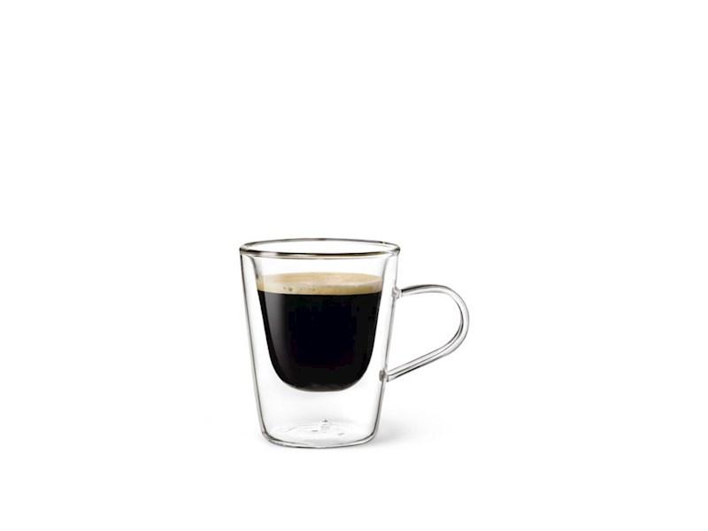 Dubbelwandig glas Espresso, 10 cl, set van 2