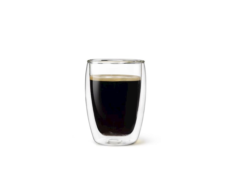 Dubbelwandig drinkglas, 27 cl, set van 2