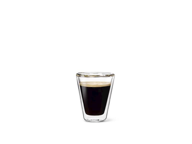 Dubbelwandig glas Caffeino, 8,5 cl, set van 2