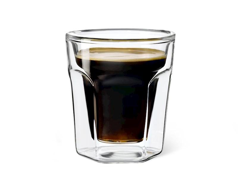 Dubbelwandig glas Espresso, set van 2