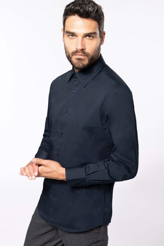 Heren Stretch Overhemd Lange Mouwen