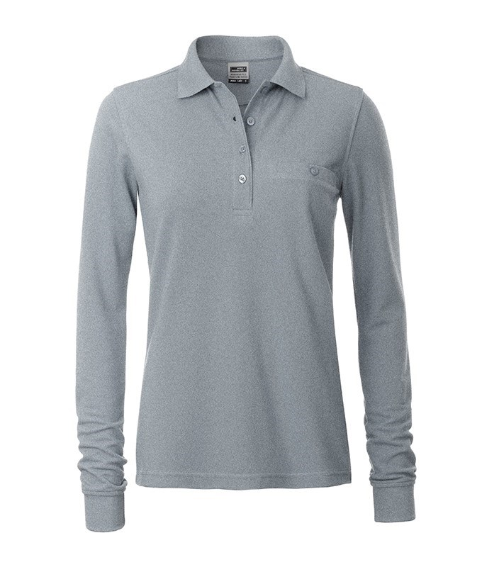 Ladies' Workwear Polo Pocket Longsleeve