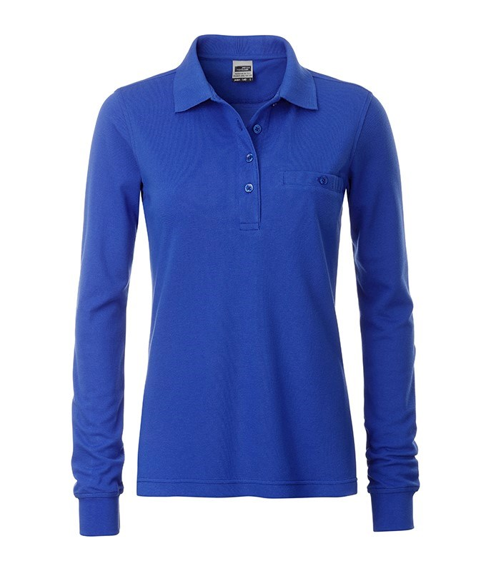 Ladies' Workwear Polo Pocket Longsleeve