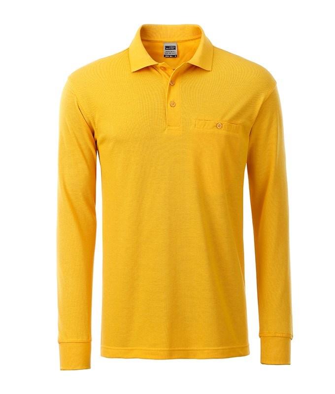 Men's Workwear Polo Pocket Longsleeve