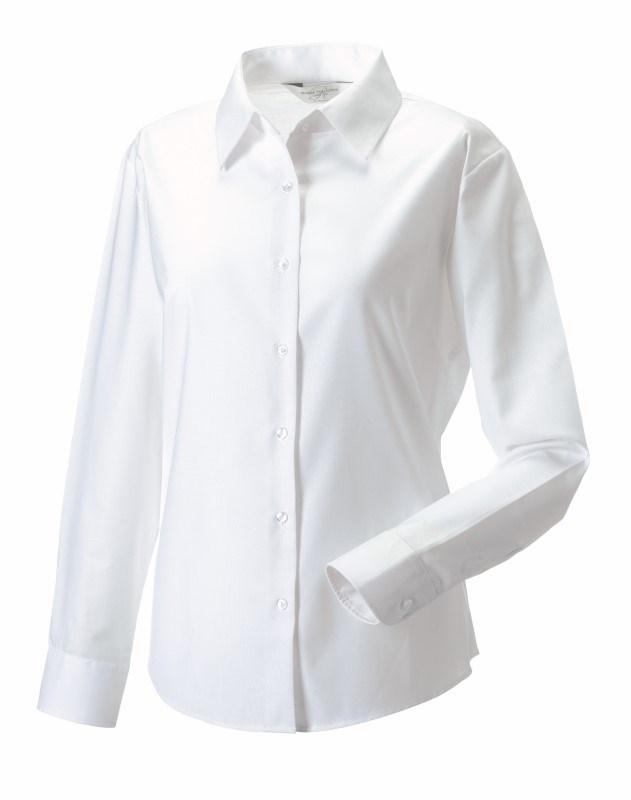 Ladies Longsleeve Easy Care Oxford Shirt