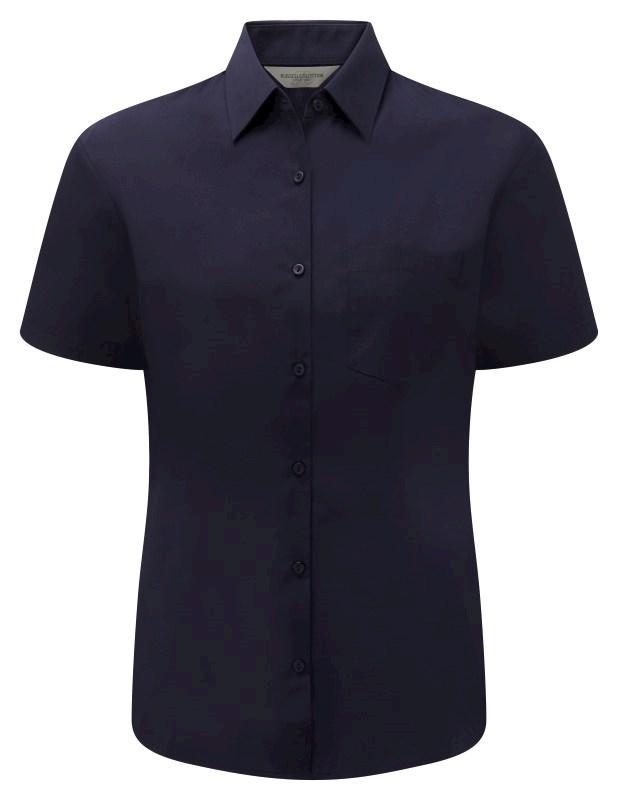 Ladies Short-Sleeve PolyCotton Poplin shirt