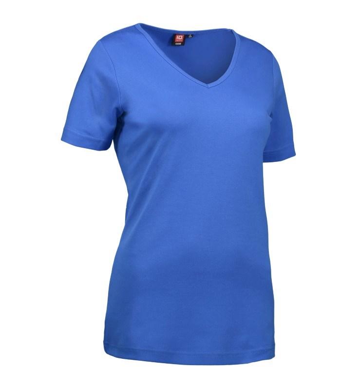 Ladies' interlock T-shirt V-neck