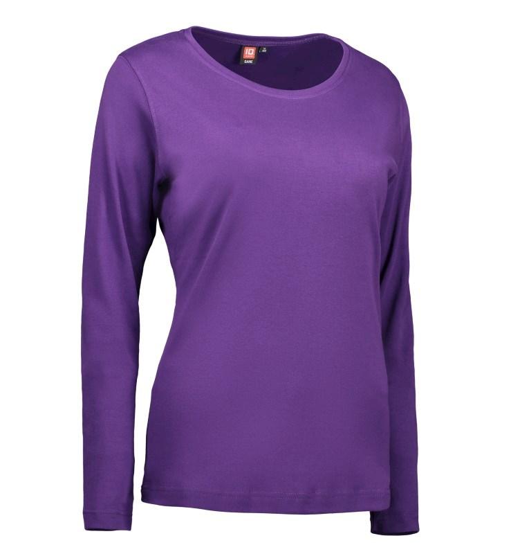 Ladies' interlock T-shirtlong-sleeved