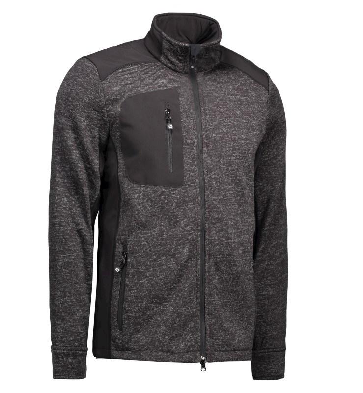 Men's knit fleece cardigan