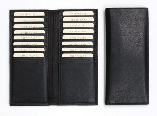 16 Cards etui zwart nappa rundleder
