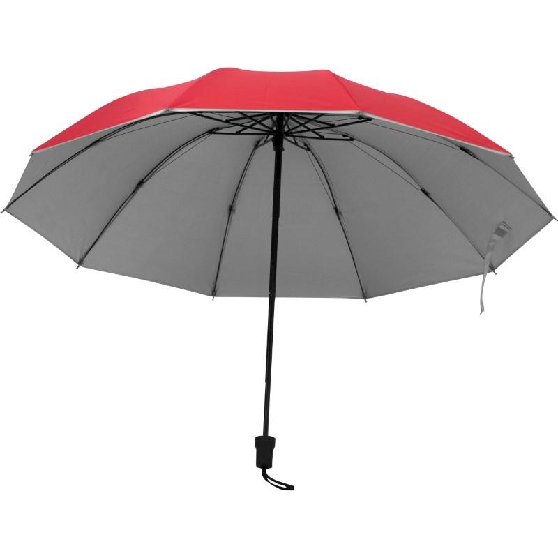 Paraplu met zilverkleurige binnenkant