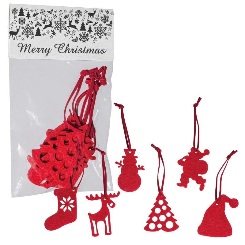 6-delige kersthangerset