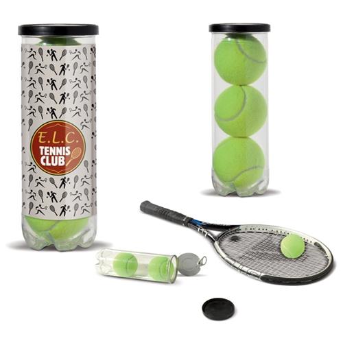 Set tennisballen in koker