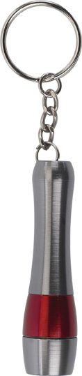 Sleutelhanger met aluminium zaklamp