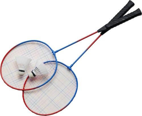 Badmintonset met 2 rackets, 2 shuttles.