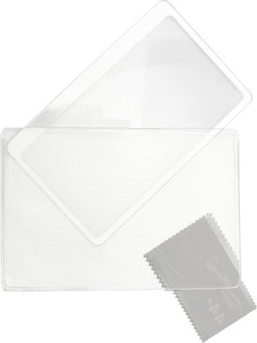 Ultra dun plastic vergrootglas, rechthoekig model.