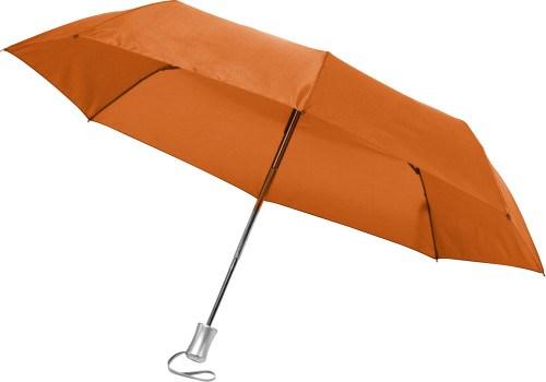 Opvouwbare automatische paraplu in een hoes.