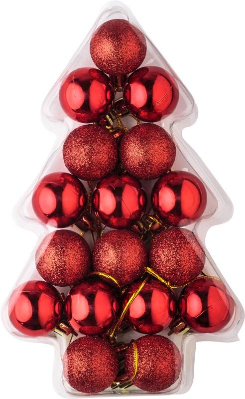 Set van 17 mini kerstballen