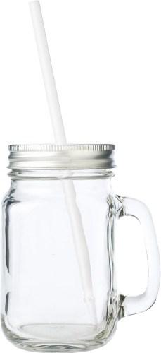 Glas met rietje (480 ml)