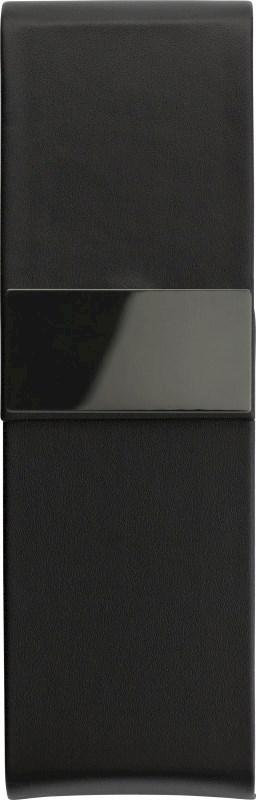 Luxe zwarte PU pen cassette, voor twee pennen