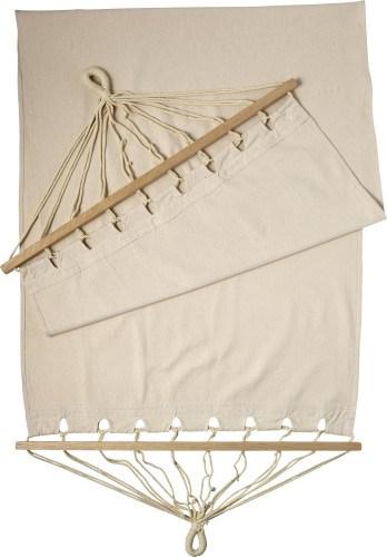 Polyester canvas hangmat met houten onderdelen