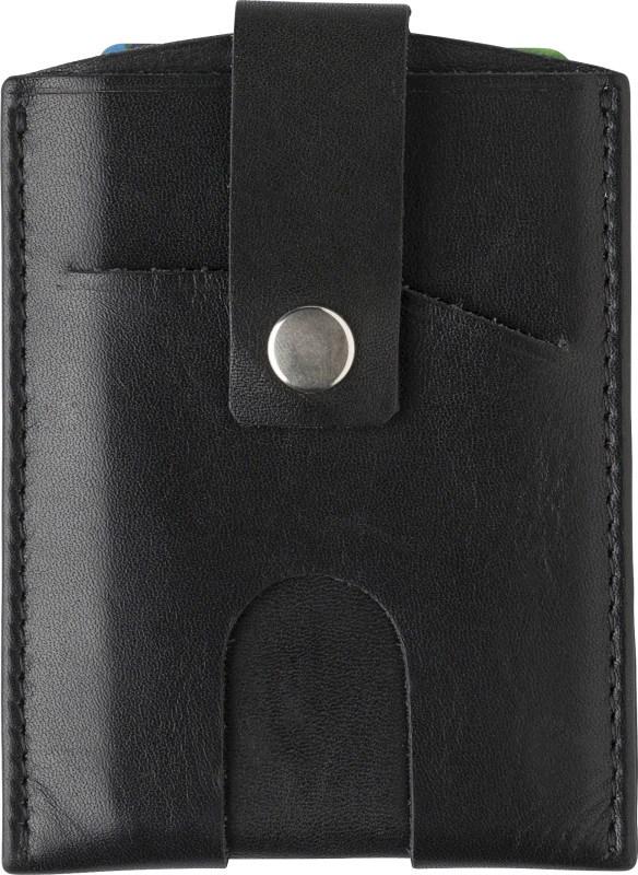 Splitlederen creditcard houder, RFID