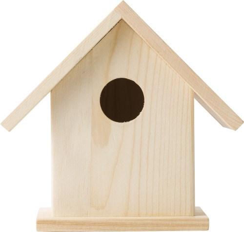 Houten vogelhuisje met verf set