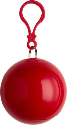 PVC poncho in een plastic bal met karabijnhaak.