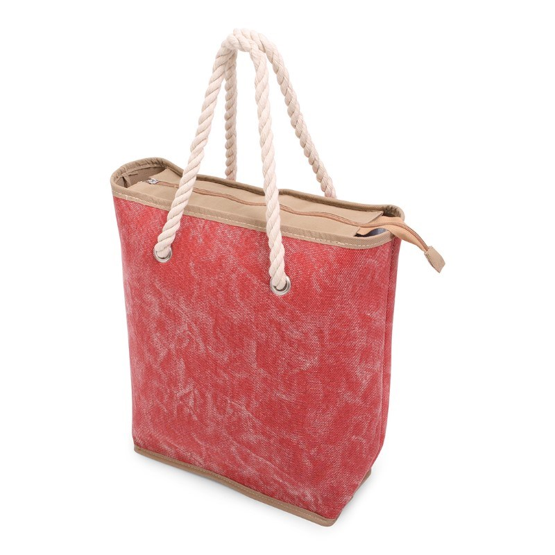 Canvas Shopper Red