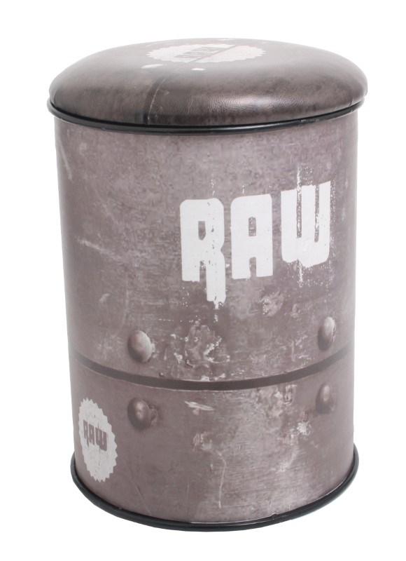 Multifunctional seat/storage barrel - Raw design B