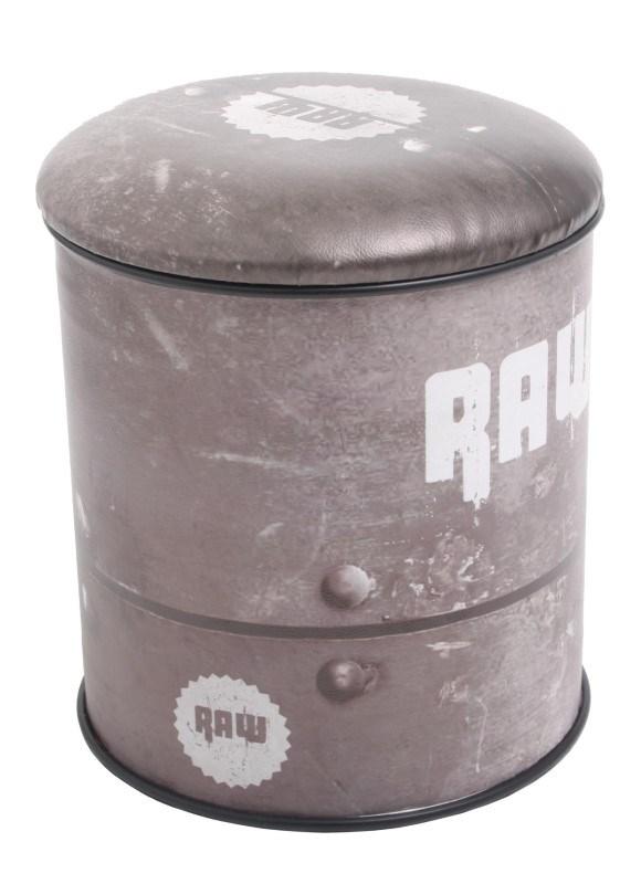 Multifunctional seat/storage barrel - Raw design M