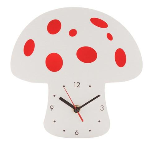 wandklok, paddenstoel