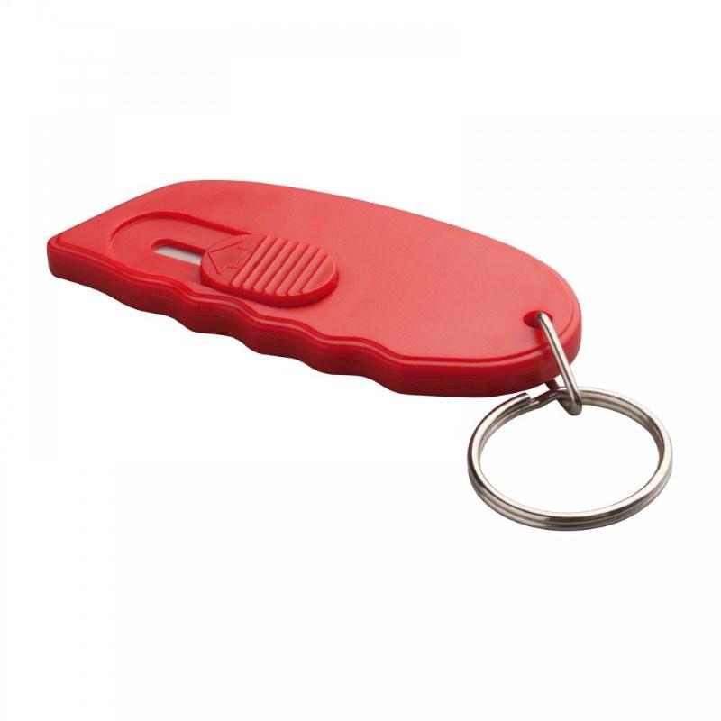 Minicutter met sleutelhanger REFLECTS-TONGI RED