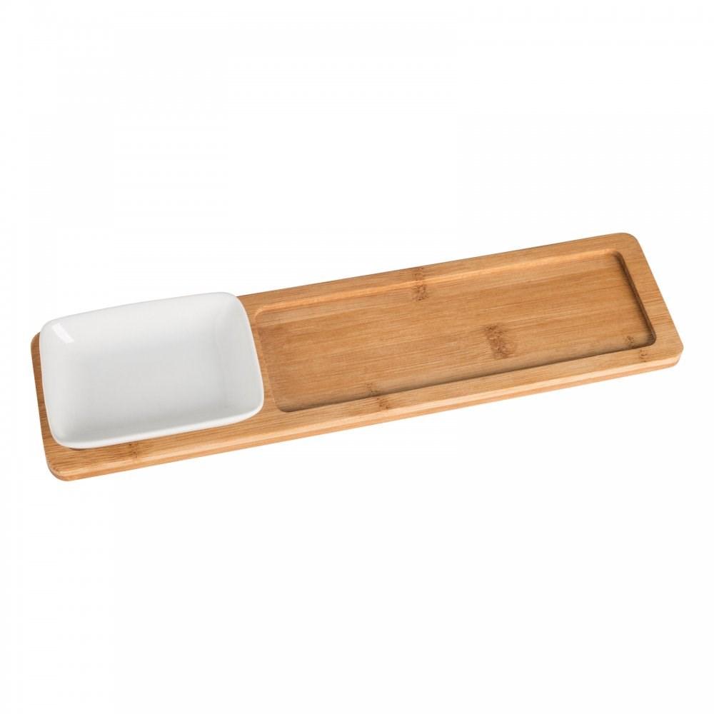 Bamboo tray met potje REFLECTS-LIDA