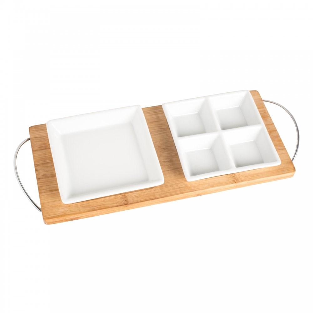 Bamboo tray met 2 potjes REFLECTS-GETXO