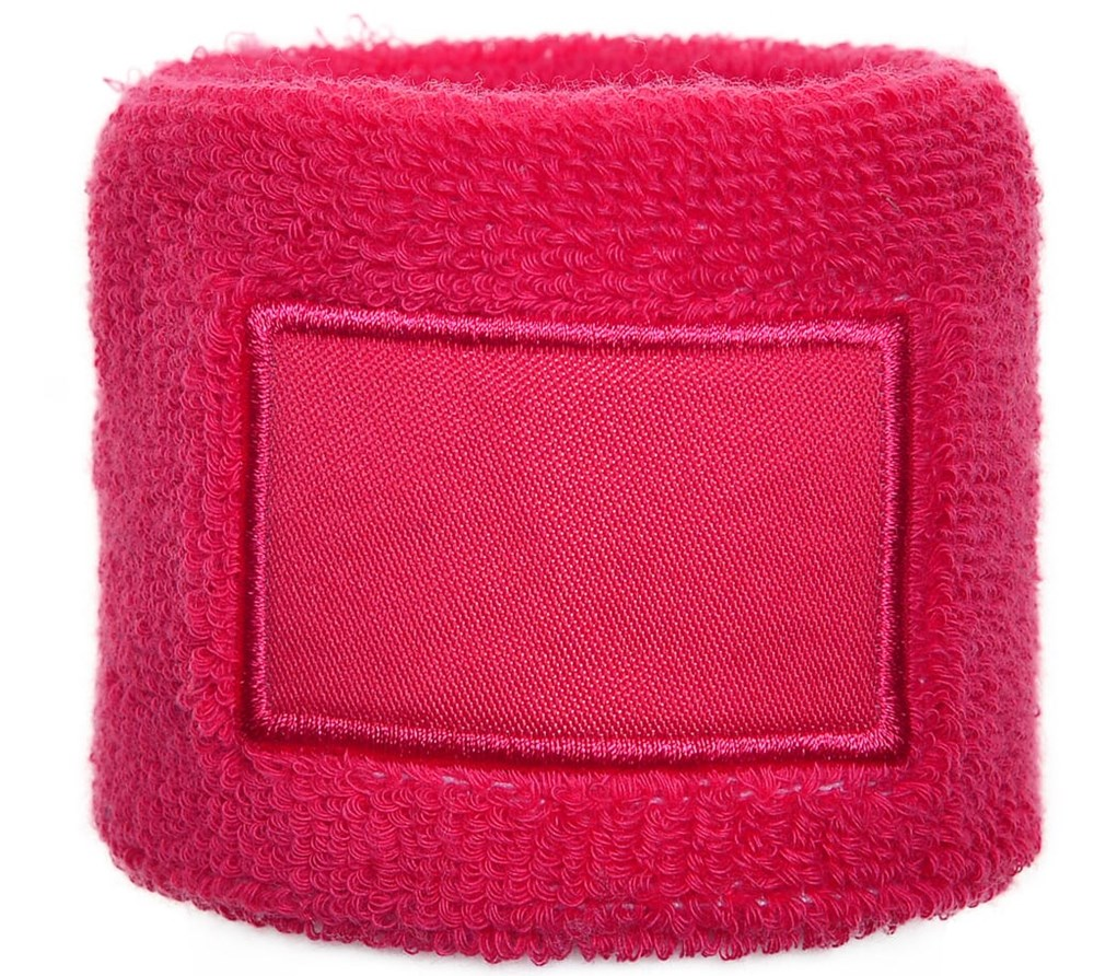 Polsband 6cm with Label Roze acc....