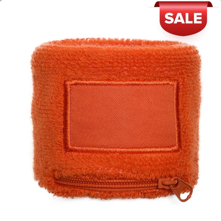 Polsbandje Met Rits 6cm Met Label Oranje acc. Oran