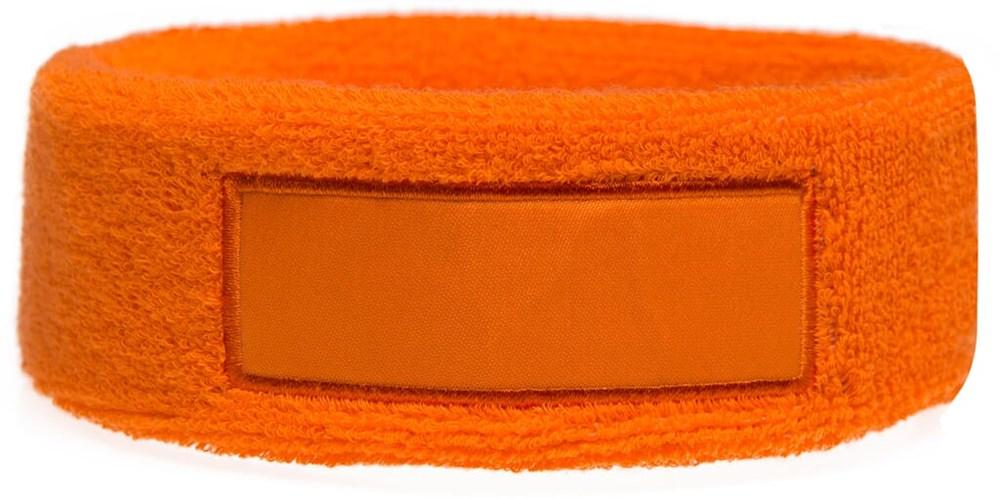 Hoofdband 18cm Met Label 9*3 cm Oranje acc. Oranje